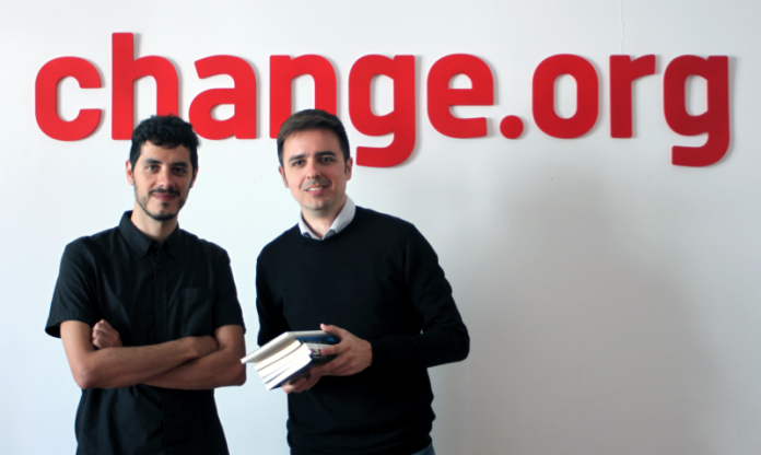 Roberto Pérez (Libros.com) y José Antonio Ritoré (Change.org)